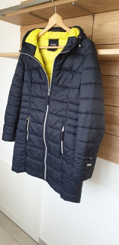 Orsay Quilted Coat blue-neon yellow polyester