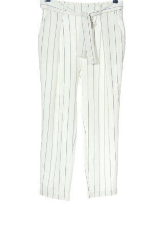 Orsay Stoffhose weiß-schwarz Streifenmuster Business-Look