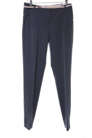 Orsay Stoffhose dunkelblau-weiß Sternenmuster Business-Look