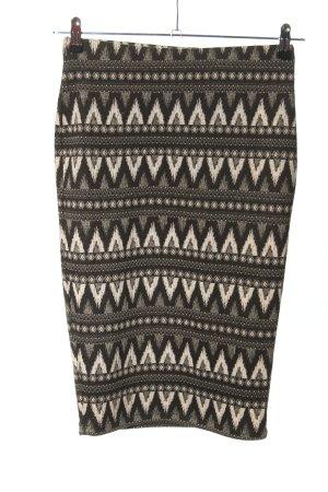 Orsay Spódnica ze stretchu czarny-biały Graficzny wzór W stylu casual