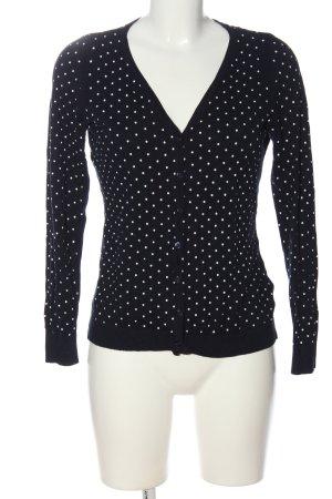 Orsay Strick Cardigan schwarz-weiß Allover-Druck Casual-Look