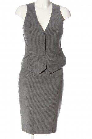 Orsay Knitted Twin Set light grey striped pattern business style