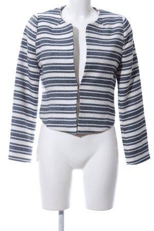 Orsay Strickblazer weiß-blau Streifenmuster Casual-Look