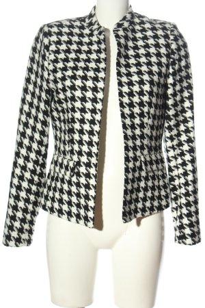 Orsay Knitted Blazer black-white allover print elegant