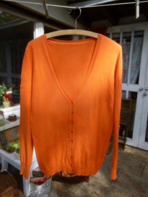 Orsay Strickjacke Orange Gr. 38
