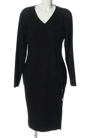 Orsay Knitted Dress black elegant
