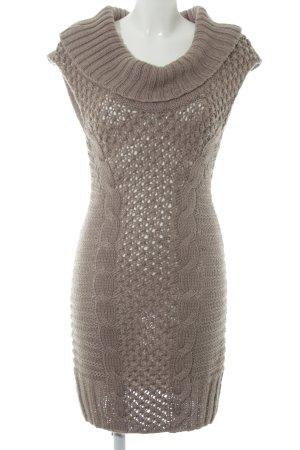 Orsay Strickkleid graubraun Zopfmuster Casual-Look