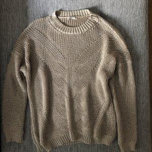 Orsay Strickpullover Pulli beige glänzend M