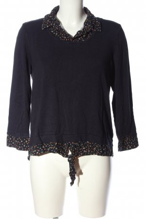 Orsay Strickpullover schwarz Blumenmuster Casual-Look