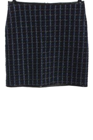 Orsay Gebreide rok blauw-zwart volledige print zakelijke stijl