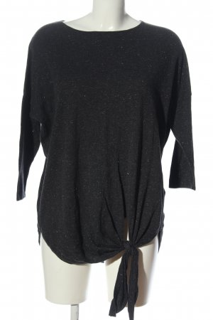 Orsay Knitted Jumper black flecked casual look