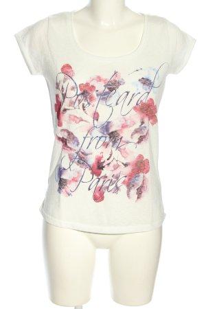 Orsay Strickshirt Blumenmuster Casual-Look
