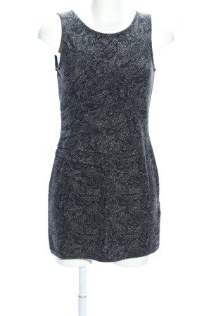 Orsay Sweatjurk zwart-lichtgrijs abstract patroon casual uitstraling