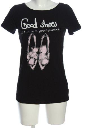Orsay T-Shirt schwarz-weiß Motivdruck Casual-Look
