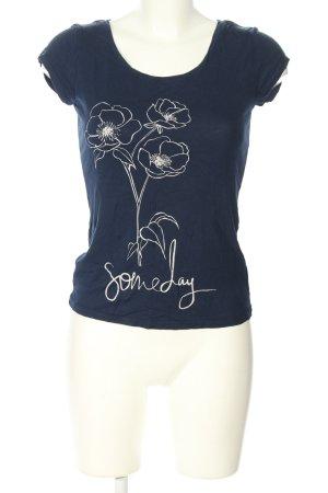 Orsay T-Shirt blau-weiß Motivdruck Casual-Look