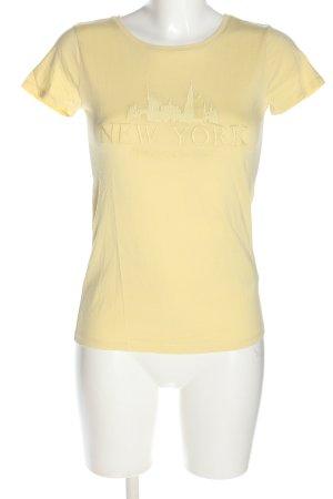 Orsay T-Shirt blassgelb Schriftzug gestickt Casual-Look