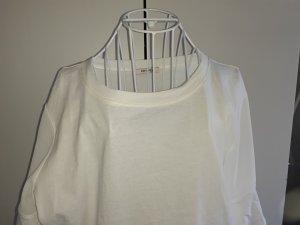 Orsay T-Shirt Weiß mit Durchsichtiger Ärmel Gr 42/44
