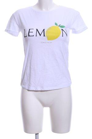 Orsay T-Shirt wollweiß-gelb platzierter Druck Casual-Look