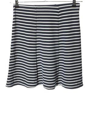 Orsay Spódnica z koła czarny-biały Wzór w paski W stylu casual