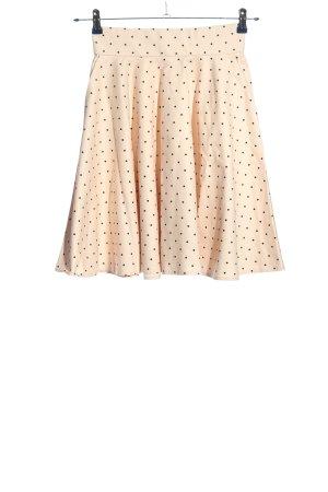 Orsay Spódnica z koła kremowy Na całej powierzchni W stylu casual