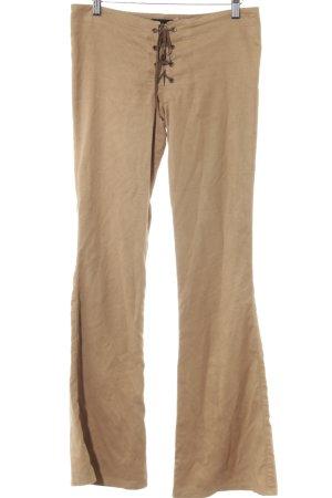 Orsay Traditionele leren broek beige-bruin country stijl