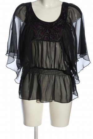 Orsay Transparenz-Bluse schwarz Elegant