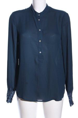 Orsay Transparenz-Bluse blau Business-Look