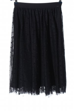 Orsay Tulle Skirt black allover print classic style