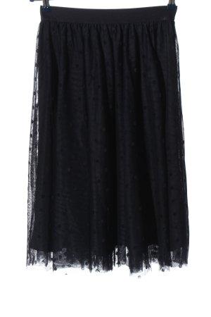 Orsay Jupe en tulle noir imprimé allover style classique