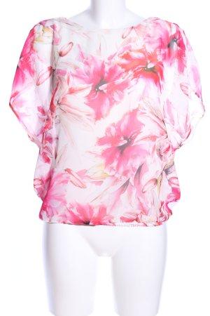 Orsay Tunikabluse wollweiß-pink Blumenmuster Casual-Look