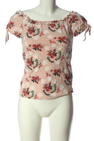 Orsay Carmen shirt nude volledige print casual uitstraling