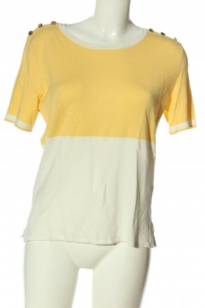 Orsay U-Boot-Shirt blassgelb-weiß Casual-Look