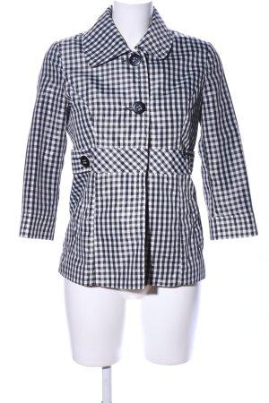Orsay Übergangsjacke schwarz-weiß Karomuster Casual-Look