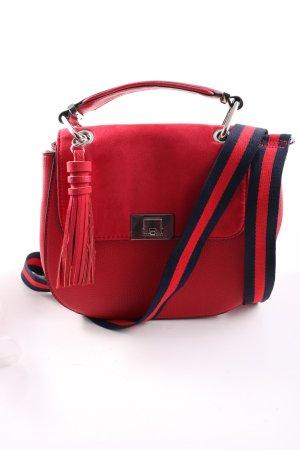 Orsay Umhängetasche rot-blau Streifenmuster Casual-Look
