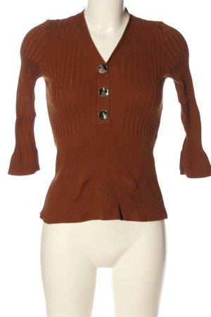 Orsay V-Ausschnitt-Pullover braun Casual-Look