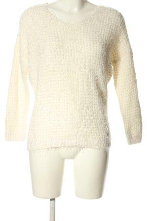 Orsay V-Ausschnitt-Pullover creme Casual-Look