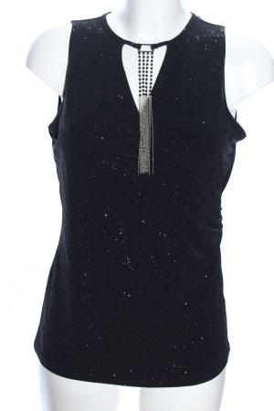 Orsay Cowl-Neck Top black flecked elegant
