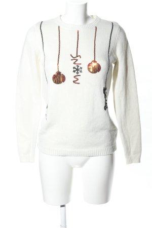 Orsay Sudadera navideña blanco puro-color oro estampado temático look casual