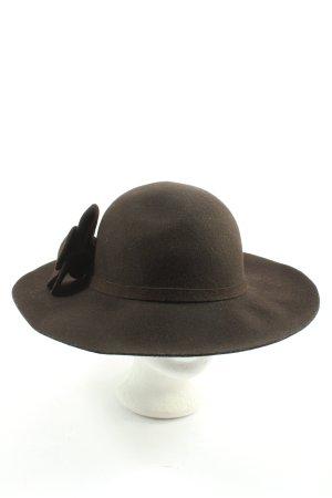 Orsay Wełniany kapelusz brązowy Elegancki