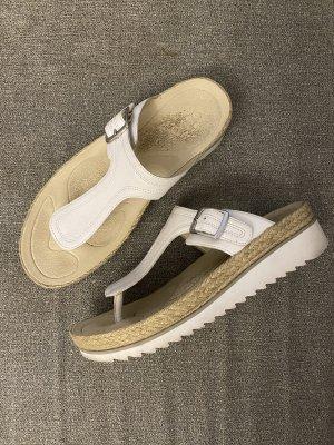 orthopädische echtleder flipflop sandalen mit rillsohle