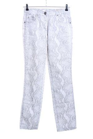 Orwell Pantalone a 7/8 bianco-grigio chiaro motivo animale stile casual