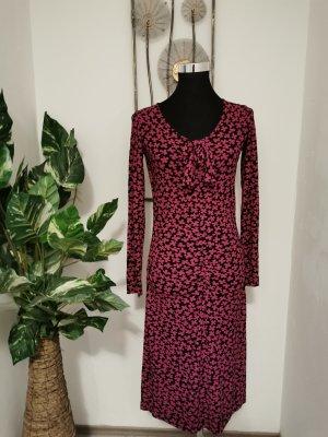 Orwell Damen Kleid Jackson Maxikleid Viskose Langarmkleid schwarz pink Größe 38