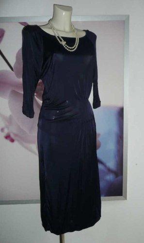 Orwell elegantes Damen Viscose Stretch Kleid Drape Dress nachtblau Gr 36-38