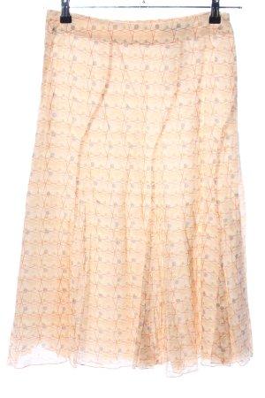 Orwell Flared Skirt nude allover print elegant