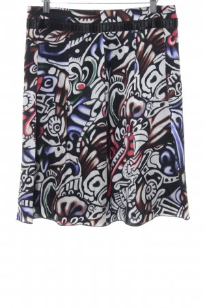Orwell Flared Skirt black-white abstract pattern casual look