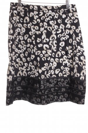 Orwell High Waist Rock schwarz-creme abstraktes Muster Gypsy-Look