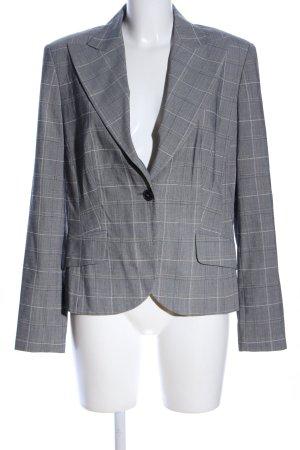 Orwell Jersey blazer lichtgrijs-wit geruite print zakelijke stijl