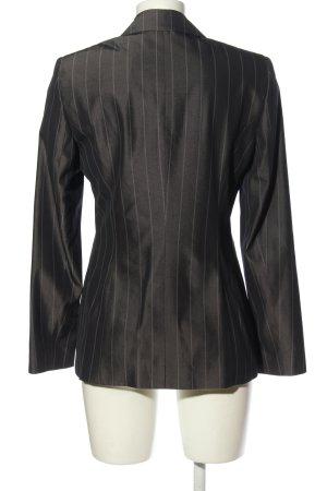 Orwell Korte blazer lichtgrijs-zwart gestreept patroon zakelijke stijl