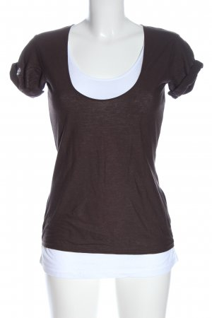 Orwell T-Shirt brown-white flecked casual look