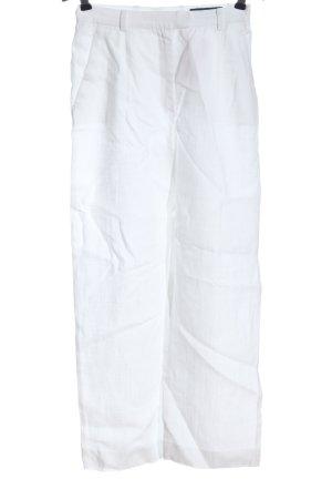 Orwell Lniane spodnie biały W stylu casual
